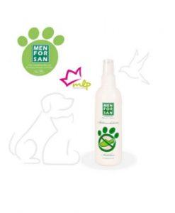 spray natural anti mordeduras para perros, indicado para cachorros en edad de cambio de dientes, envase de 125 ml
