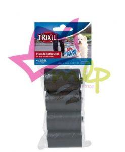 bolsas para recoger los excrementos de los canes en las calles, tamaño estándar, coge una mano de adulto perfectamente, color negro, 4 rollos de 20 bolsas cada uno.