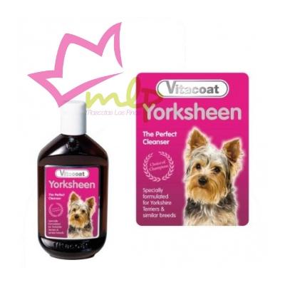 Champu para perros, indicado para Yorkshire o perros de manto similar, realza el negro y fuego de su pelo