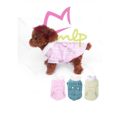 Abrigo para perros pequeños de imitación a Channel, disponible en 5 tamaños y 3 colores, interior polar para el frío invierno.