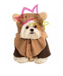Disfraz oficial de Star Wars, el adorable Ewok. Compuesto de dos partes, cuerpo y cabeza.