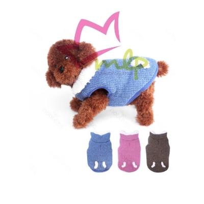 Abrigo para perros, lana por fuera y borreguito por dentro y cuello, disponible en 3 colores y 5 tamaños, solo para perros pequeños.