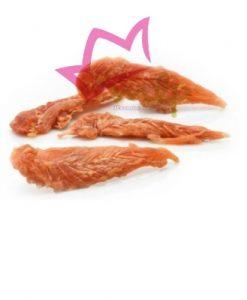 pechuga de pollo deshidratada, snack 100%natural para perros de todas las edades y tamaños.