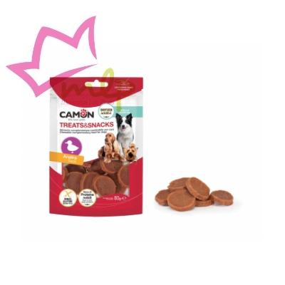 Snack de pato para perros, deliciososaperitivos de recompensa a base de pato, sin aditivos, ricos en proteínas y sin gluten.