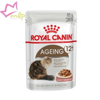Comida húmeda para gatos ancianos a partir de los 12 años de edad. Una receta especial adaptada al perfil de nutrientes óptimos para la salud de riñones y articulaciones.