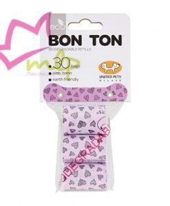 Bolsas minis biodegradables marca United Pets Bolsas de repuesto para el Bon Ton Nano, tamaño pequeño de la marca United Pets. O cualquier portabolsas de tamaño mini. Bolsas biodegradables a base almidón de maíz. Contiene 3 rollos de 10 bolsas cada uno. Las bolsas son resistentes y biodegradables.