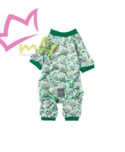 Pijama koalas FuzzYard La marca australiana FuzzYard ha diseñado este pijama para perros con un estampado de lo más divertido. Cada vez que tu perro menee su cola por casa no podrás evitar cogerlo en brazos. El pijama está para tu perro pudiéndolo ajustar a la perfección gracias a la tira elástica y botones a presión. Disponible en 3 tallas Puede lavarse en lavadora. MATERIALES: Poliéster. No tóxico, no alergénico. INSTRUCCIONES DE CUIDADO: Se puede lavar a máquina. Prenda delicada.